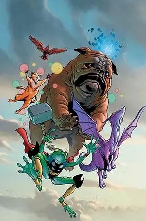 Lockjaw and the Pet Avengers #1 (July 2009) Art by Karl Kerschl