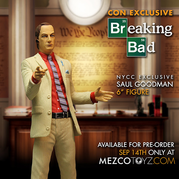 Don't Just Call! Bring Home Saul! From Mezco at NYCC...