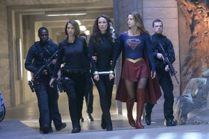 """Blood Bonds"" -- With Astra in captivity at the DEO, her husband, Non (Chris Vance), captures Hank, leading to a tense standoff between the two sides. Also, Kara continues to refute Cat's allegations that she is Supergirl, on SUPERGIRL, Monday, Jan. 4 (8:00-9:00 PM) on the CBS Television Network. Pictured left to right: Chyler Leigh, Laura Benanti and Melissa Benoist Photo: Darren Michaels/Warner Bros. Entertainment Inc. © 2015 WBEI. All rights reserved"