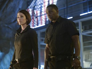 """Strange Visitor From Another Planet"" -- Kara must help Hank (David Harewood, right) face his painful past when a White Martian, a member of the alien race that wiped out his people, kidnaps Senator Miranda Crane, an anti-alien politician, on SUPERGIRL, Monday, Jan. 25 (8:00-9:00 PM, ET/PT) on the CBS Television Network. Also pictured: Chyler Leigh (left) Photo: Darren Michaels/Warner Bros. Entertainment Inc. © 2015 WBEI. All rights reserved."