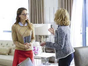 """Bizarro"" --Kara (Melissa Benoist, left) grows closer with Cat's (Calista Flockhart, right) son, Adam, on SUPERGIRL, Monday, Feb. 1 (8:00-9:00 PM) on the CBS Television Network. Photo: Monty Brinton/CBS ©2015 CBS Broadcasting, Inc. All Rights Reserved"