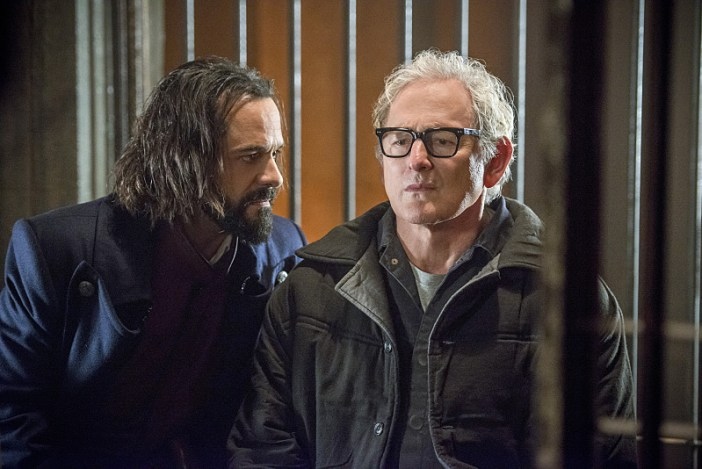 "DC's Legends of Tomorrow -- ""Fail-Safe"" -- Image LGN105b_0141b.jpg -- Pictured (L-R): Casper Crump as Vandal Savage and Victor Garber as Professor Martin Stein -- Photo: Diyah Pera/The CW -- © 2016 The CW Network, LLC. All Rights Reserved."