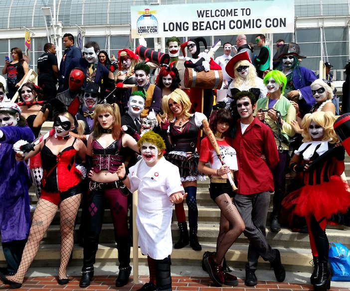 Long Beach Comic Con 2015 DC Comics Joker and Harley Cosplayers