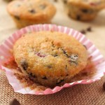 Dark Chocolate and Raspberry Banana Muffins