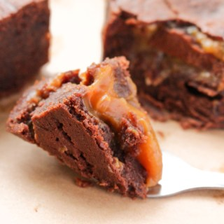 Salted Caramel Brownies (Gluten Free)