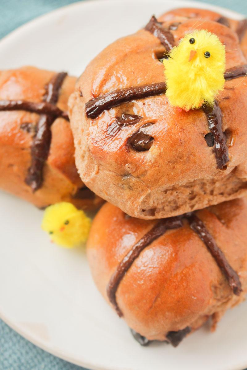 Cherry & Chocolate Hot Cross Buns