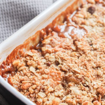 Toffee Apple Crumble | What Charlotte Baked