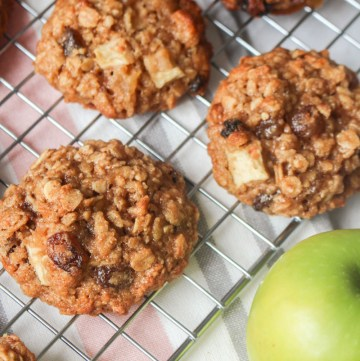 Apple Sultana Oatmeal Cookies | What Charlotte Baked