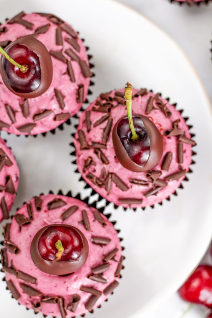 Chocolate Cherry Cupcakes recipe   What Charlotte Baked