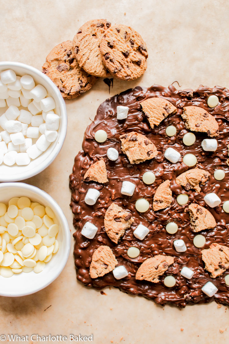 Rocky Road Chocolate Bark recipe | What Charlotte Baked