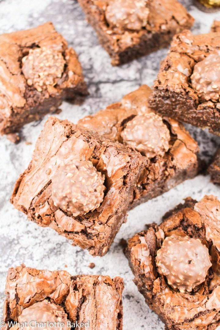 Ferrero Rocher Brownies recipe | What Charlotte Baked