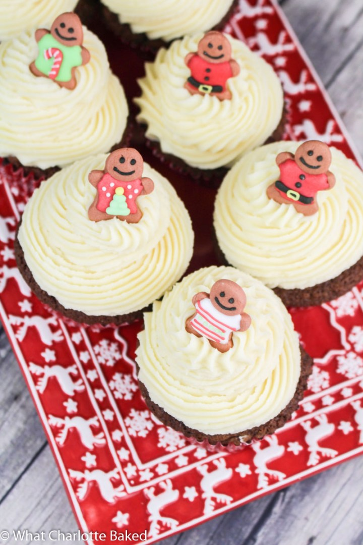 Gingerbread Cupcakes with Maple Buttercream recipe | What Charlotte Baked