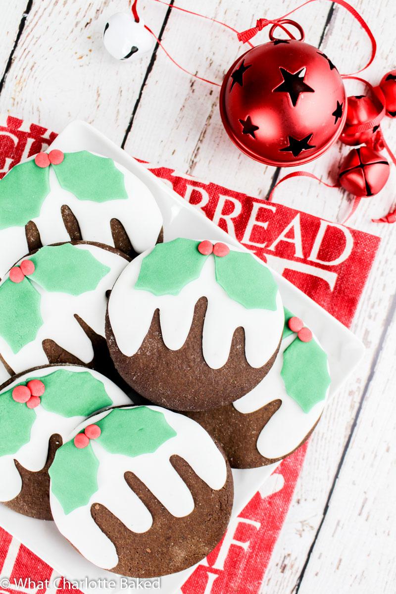Christmas Pudding Cookies Dark Gingerbread