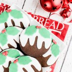 Christmas Pudding Cookies (Dark Gingerbread)