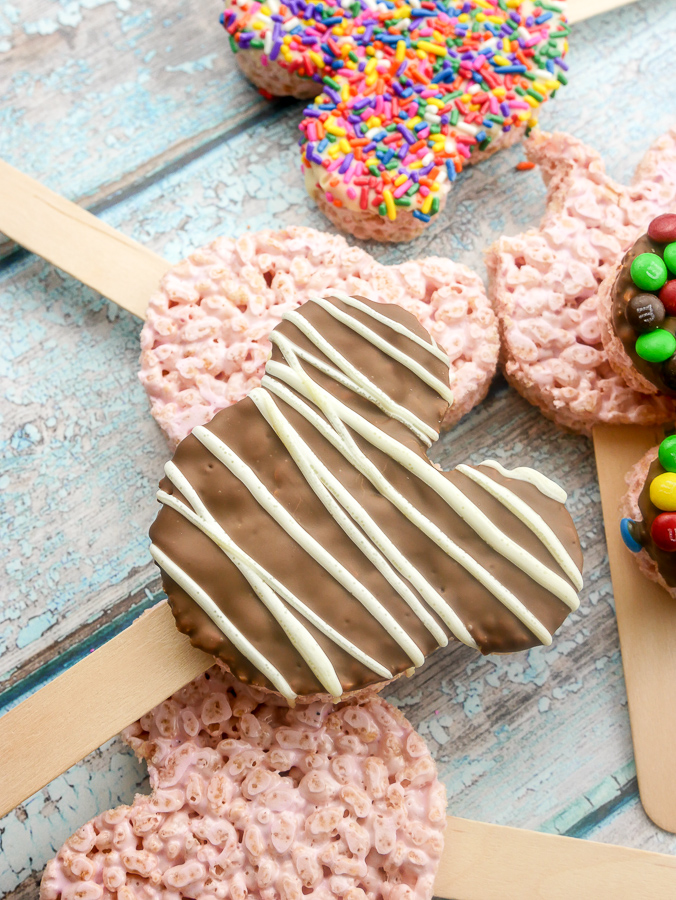 How to make rice krispie minnie mouse pops