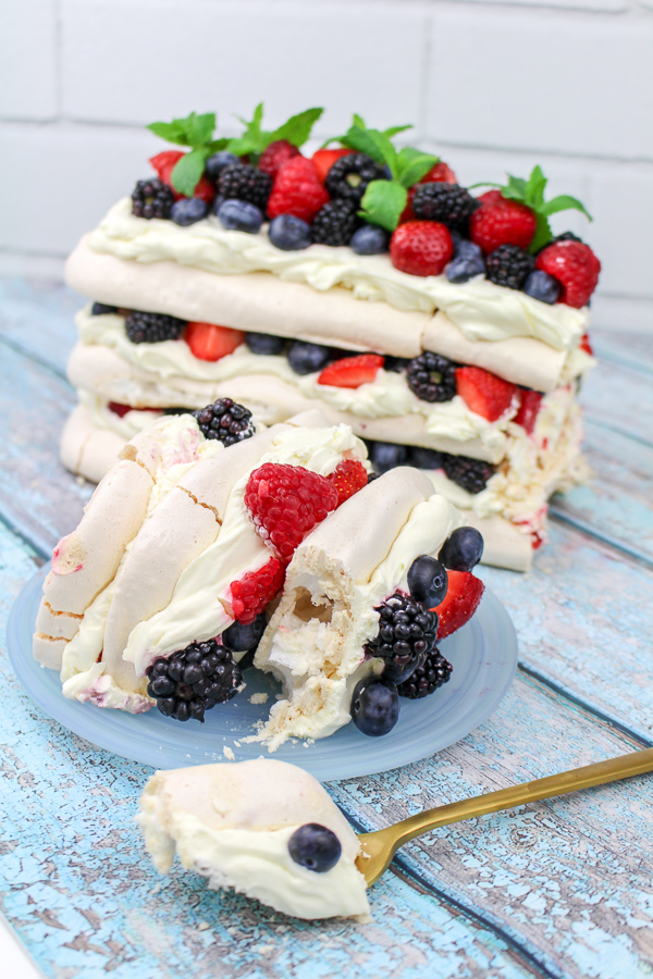 Summer Berries Pavlova with Elderflower Cream recipe | What Charlotte Baked