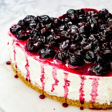 Amaretto Cherry Cheesecake recipe | What Charlotte Baked