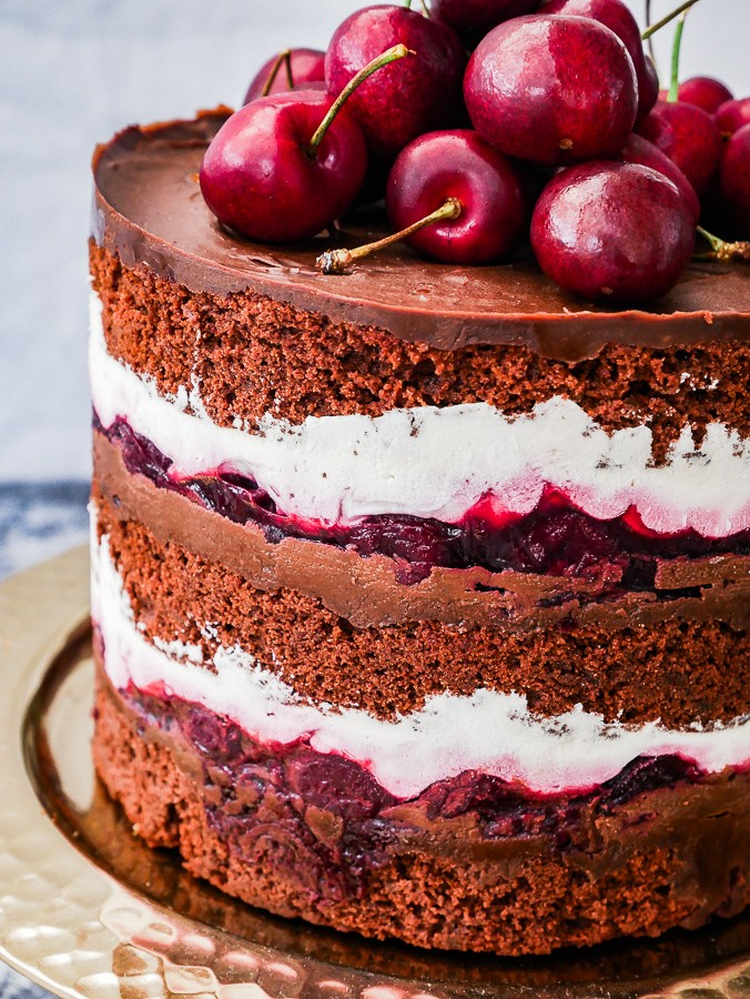 Black Forest Naked Cake recipe | What Charlotte Baked