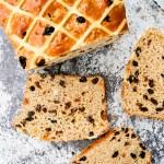 Hot Cross Bun Loaf (Bread Maker Recipe)