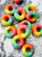 Mini Rainbow Doughnuts (Baked) recipe   What Charlotte Baked