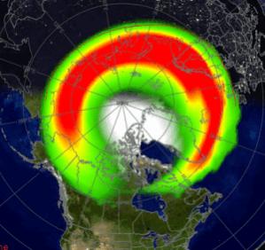 aurora forecast graphic