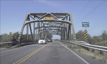 Slater Road at Nooksack River bridge (May 29, 2015). Photo: Whatcom News