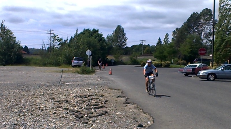 Ski-to-Sea cyclists heading through Ferndale in 2015. Photo: Discover Ferndale