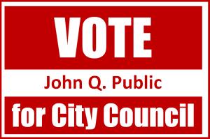 political yard sign 300x