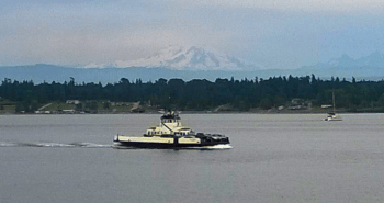 Whatcom Chief making the crossing from Gooseberry Point to Lummi Island (July 24, 2015). Photo: My Ferndale News
