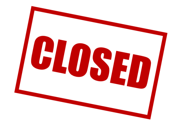 closed sign - stock graphic