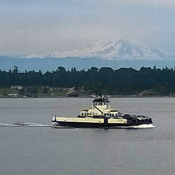 Whatcom Chief making the crossing from Gooseberry Point to Lummi Island (2016). Photo: My Ferndale News