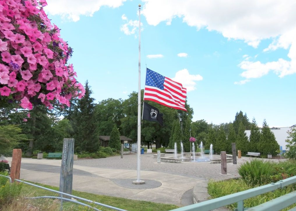 Flags at half staff in Ferndale