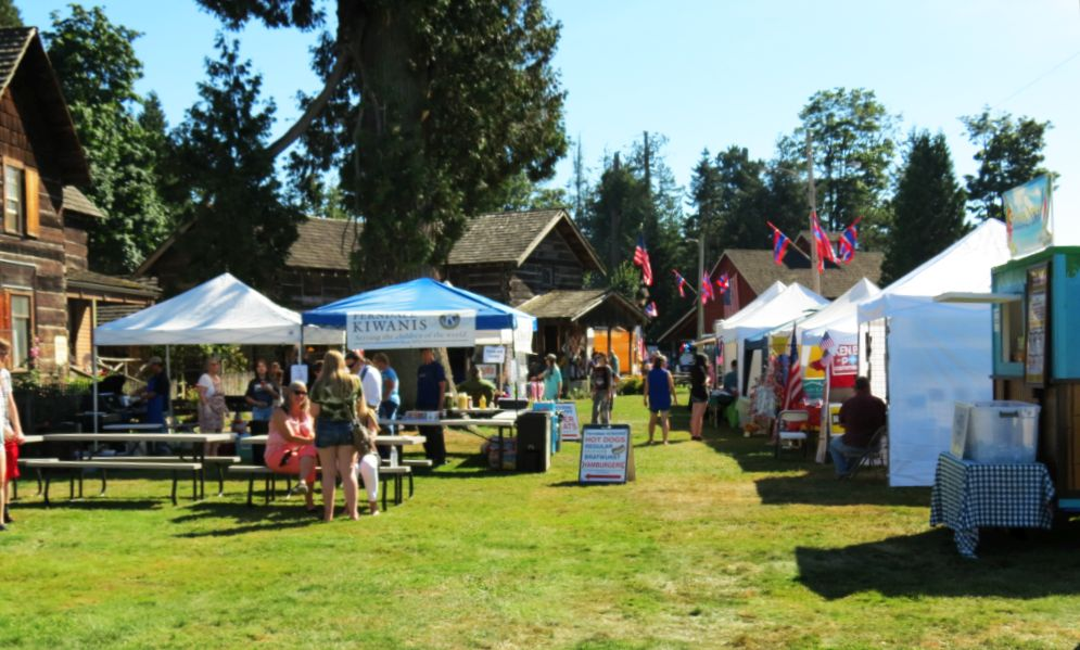 Pioneer Park during Old Settlers Picnic (July 28, 2017). Photo: Discover Ferndale