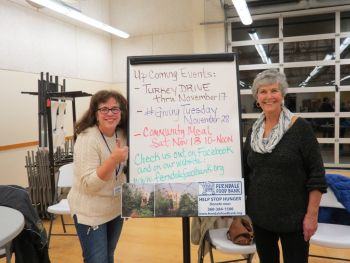 ffb info table with suzanne nevan and Mary Pardue