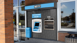 WECU ATM with new logo and color scheme