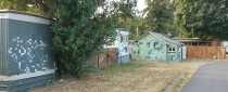 residential buildings graffiti - pix