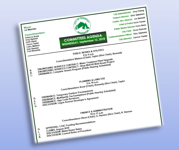 council committees agendas file graphic