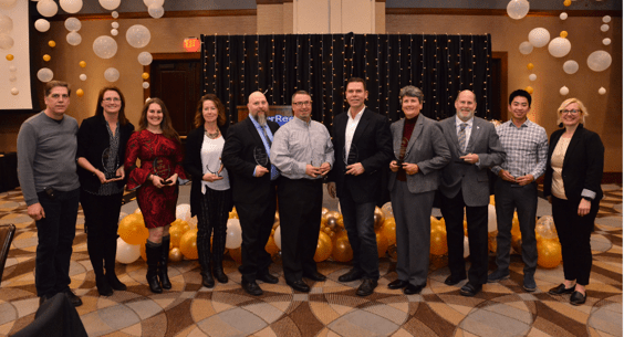 2018 awardees at 2019 chamber banquet photo Radley Muller Photography