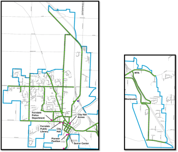City of Ferndale snow removal priority routes (2017). Source: City of Ferndale