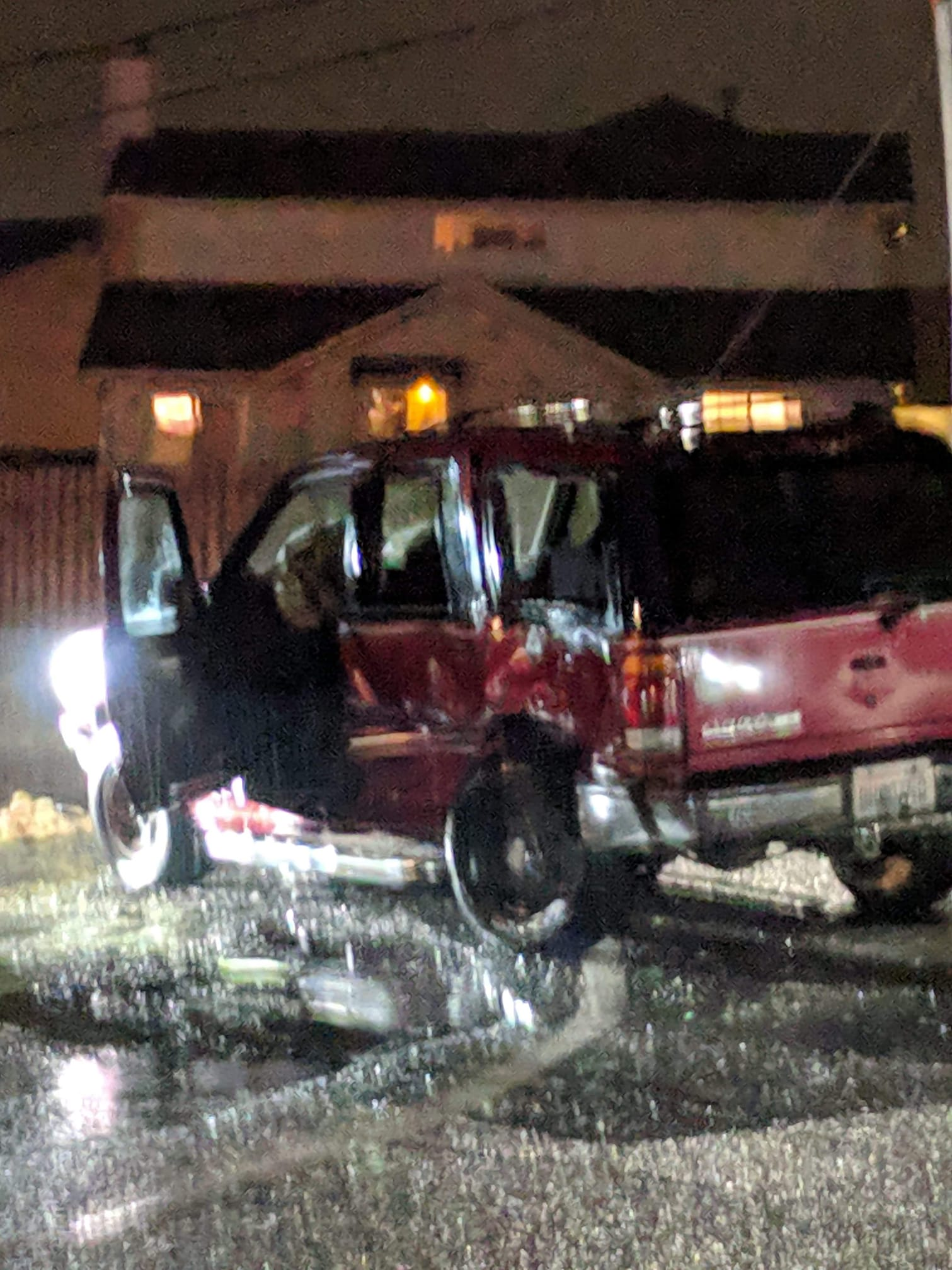 hit and run victim vehicle at thornton and church 2019-01-22 photo gayle kinney