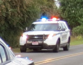 wcso vehicle with lights activated emergency