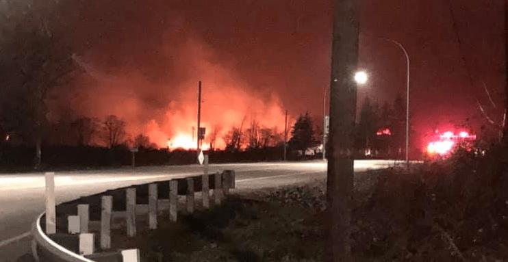 slater road brush fire 2019-02-09 photo benjamin spencer