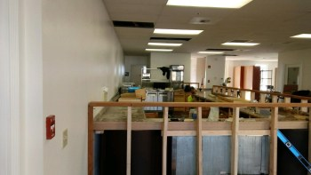 Interior of The Meeting Place during preparations prior to opening. Photo courtesy of The Meeting Place.