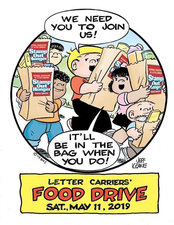 2019 letter carriers food drive poster