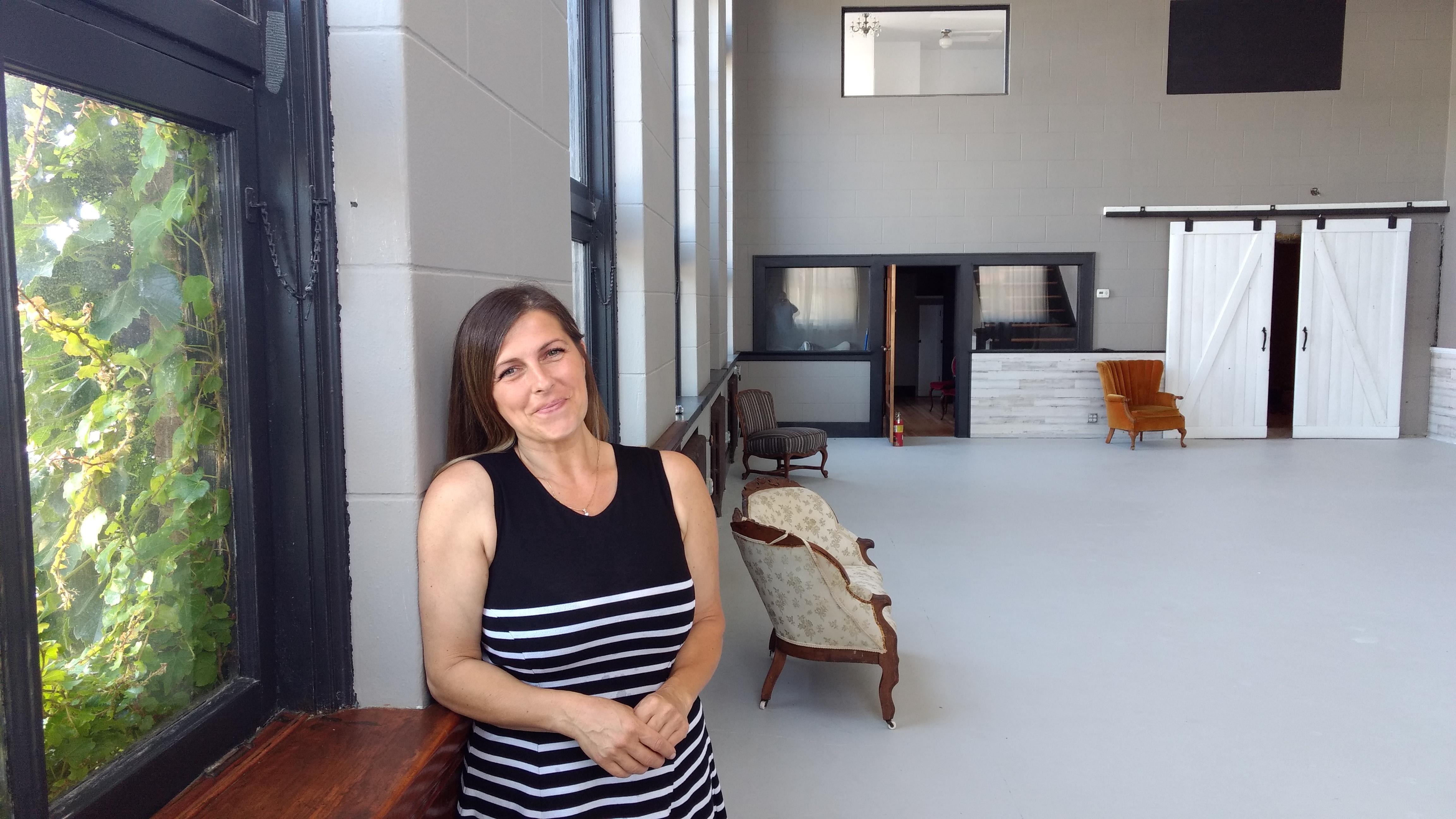 Simona Nicolau poses inside her new studio and events space, Vine Creative Spaces Studio (July 25, 2019). Photo: My Ferndale News