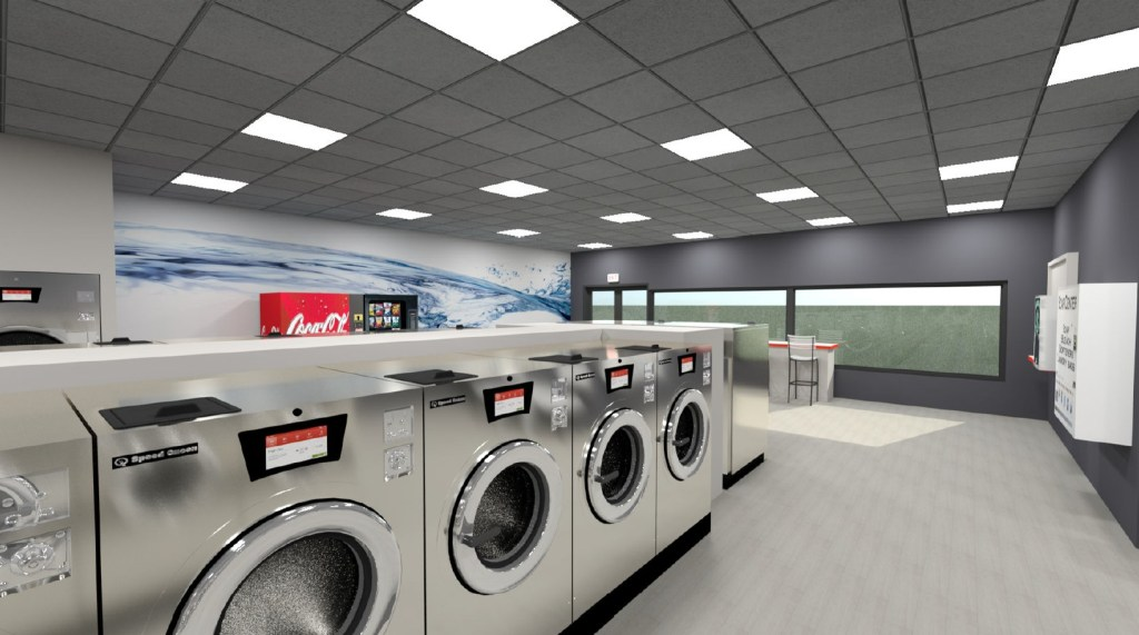 Computer rendering of the proposed floor plan for Ferndale Laundry at 5619 3rd Avenue (August 2019). Source: Ferndale Laundry