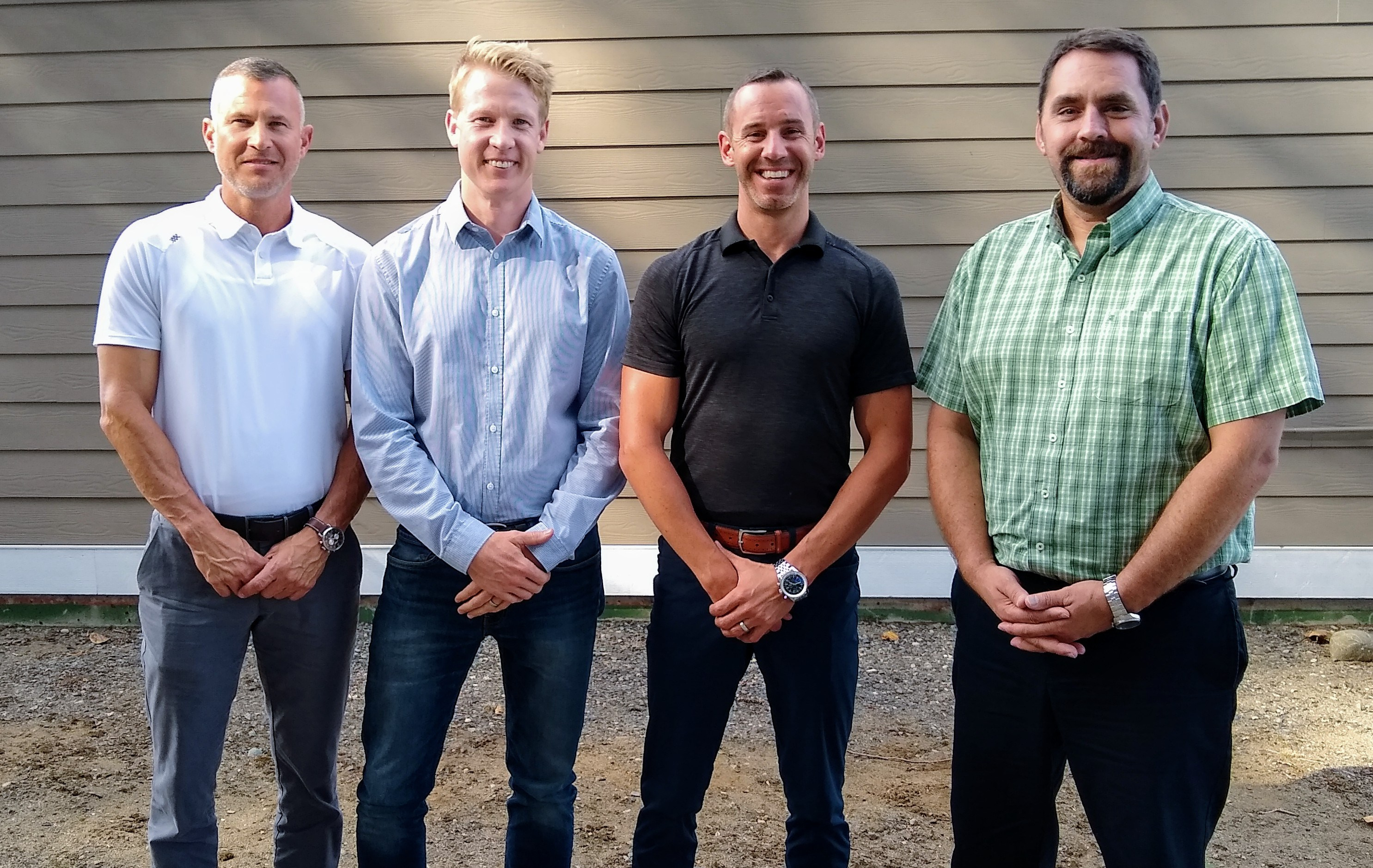 GreenEarth Landscape Services co-owners – from left, Shawn Knight, Isaac Burrous, Jeremy Durgan and David Arnold