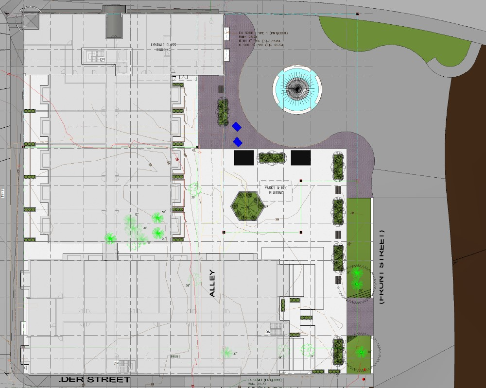 Fountain Place initial site plan (September 2019).
