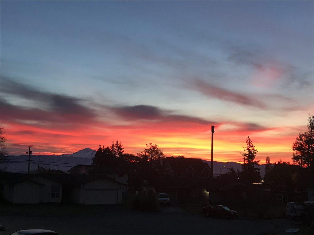 Sunrise (November 8, 2019). Photo courtesy of Stacy Olson.