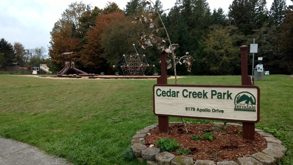 Cedar Creek Park after new playground equipment was installed (October 15, 2019). Photo: My Ferndale News